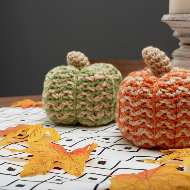 Red Heart Spicy Crochet Pumpkins, Green Pumpkin