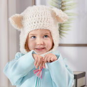 Go to Product: Red Heart Polar Bear Crochet Balaclava Hood, Baby - Hygge 5oz in color