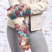 Red Heart Dragon Scale Mitts