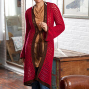 Red Heart Long on Looks Cardi, S