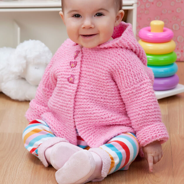 Red Heart Play Date Cardi, 6 mos in color