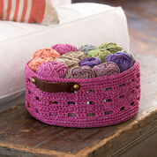 Red Heart Bricks Basket