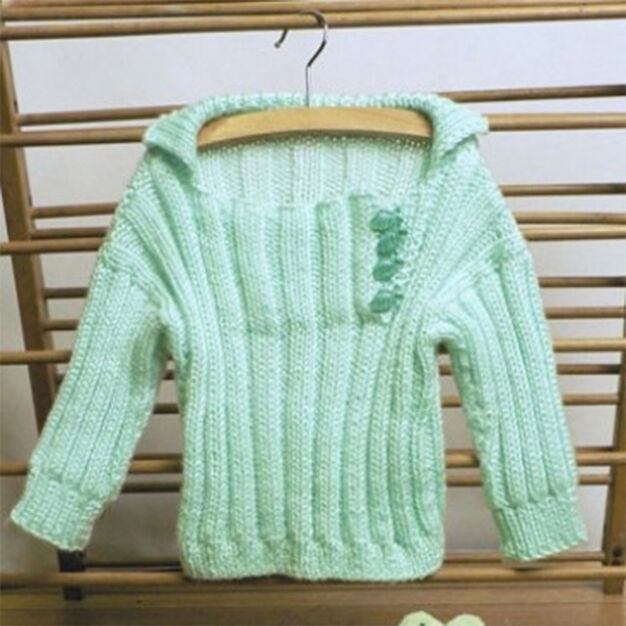 Caron Soft Ribbed Toddler Pullover, S in color