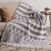 Go to Product: Bernat Mosaic Stripe and Chevron Knit Blanket Sparkle in color