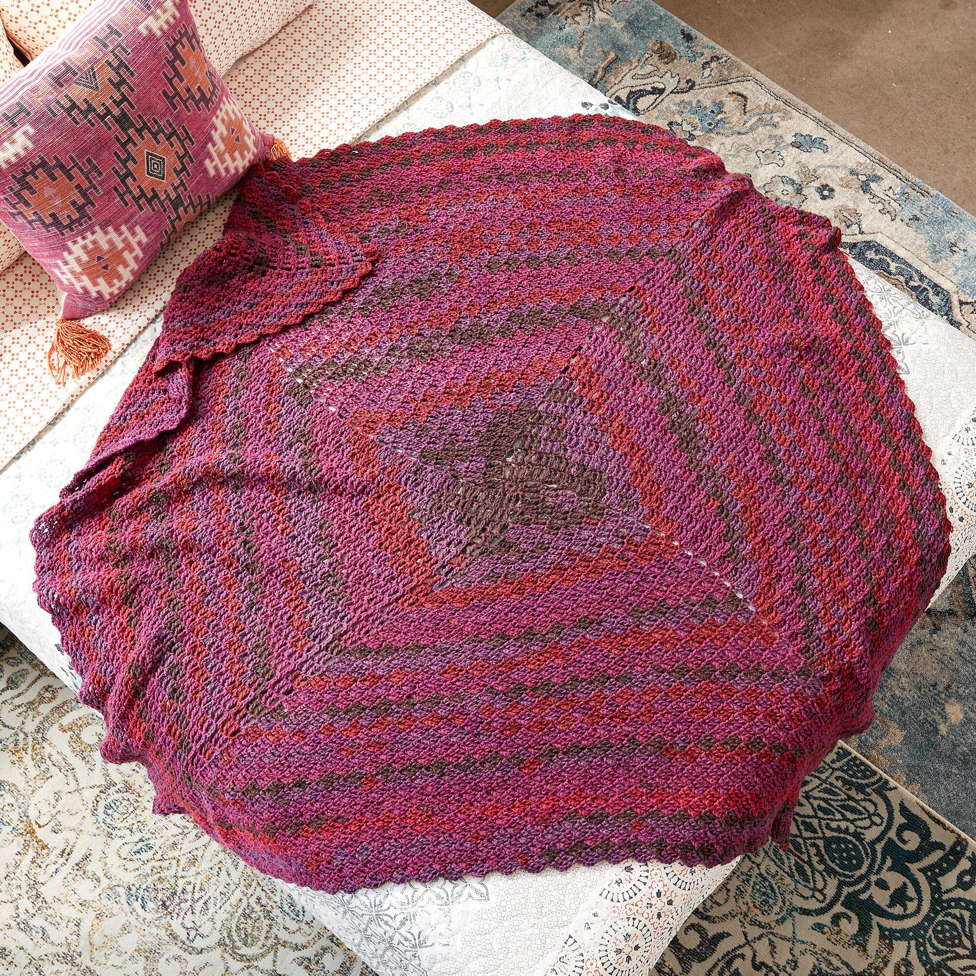 Caron Stacking Blocks Crochet Blanket Version 1 Pattern