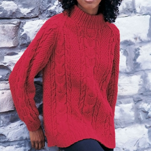 Patons Cabled Raglan, S in color