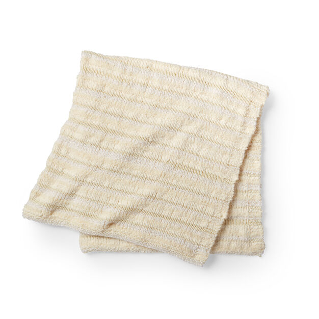 Bernat Easy Textures Knit Blanket in color