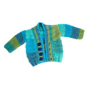 Red Heart Soft Essentials Knit Baby Cardigan, 6 mos