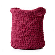 Bernat Shadow Stitch Crochet Basket