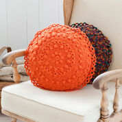 Red Heart Puff Stitch Round Pillows