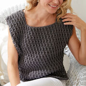 Bernat Long Dash Crochet Top, XS/S