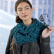 Go to Product: Red Heart Blue Velvet Cowl in color