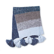 Bernat Blue Velvet Fade Knit Blanket