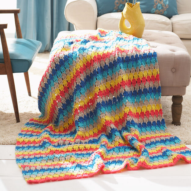 Bernat Larksfoot Blanket in color
