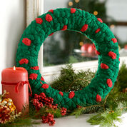 Red Heart Christmas Wreath