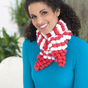 Red Heart Candy Stripe Scarf