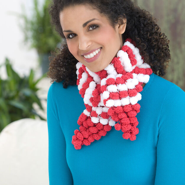 Red Heart Candy Stripe Scarf in color