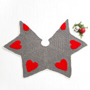 Red Heart Holiday Hearts Tree Skirt