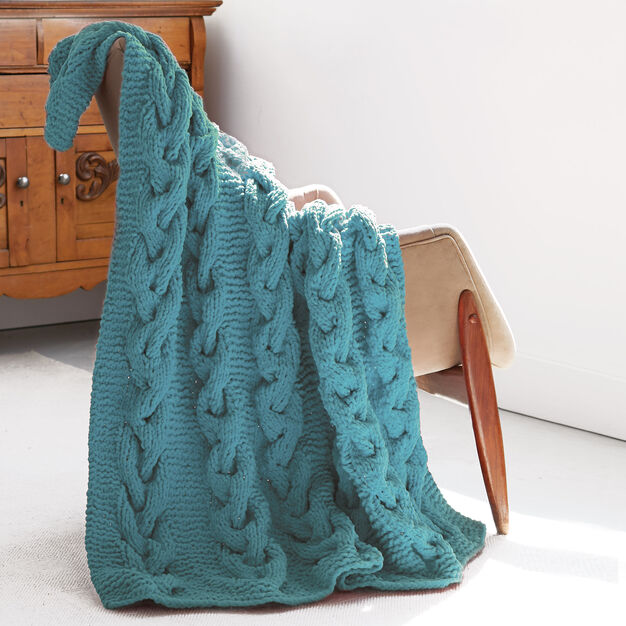 Bernat Cable Afghan in color