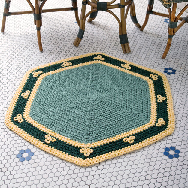 Red Heart Quiet Moments Rug in color