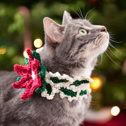 Red Heart Holiday Cat Collar, S/M