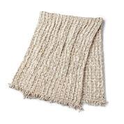 Bernat Waffle & Fringe Crochet Blanket