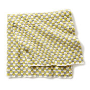 Bernat Checker Crochet Baby Blanket