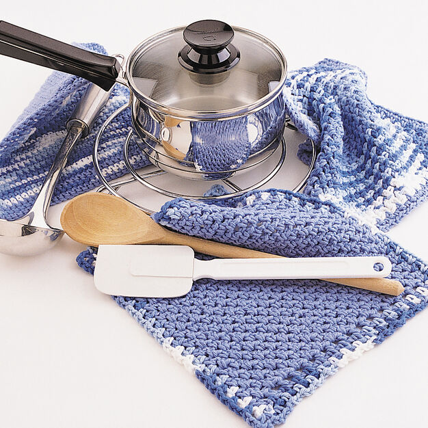 Lily Sugar'n Cream Dishcloth and Pot Holder