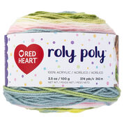 Red Heart Roly Poly Yarn, Happy