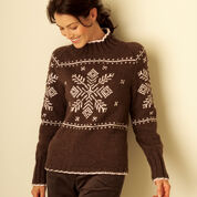 Go to Product: Bernat Fair Isle Yoke Pullover, XS/S in color