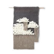 Bernat Alize EZ Cloudy Sky Crochet Wall Hanging