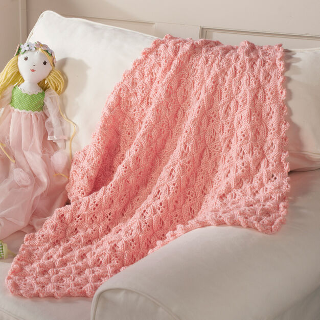 Red Heart Princess Blanket in color