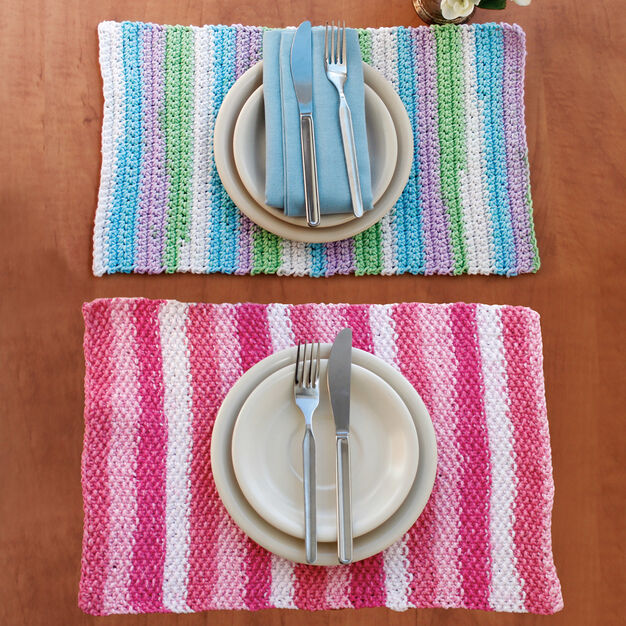 Lily Sugar'n Cream Stripes Placemat in color