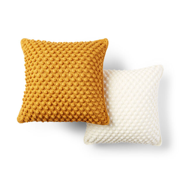 Patons Bobble-Licious Pillow, Fool's Gold in color