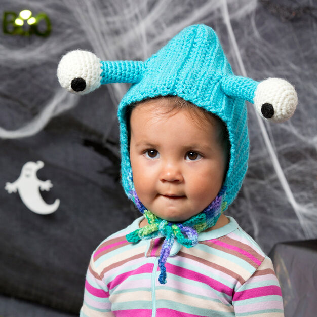 Red Heart Baby Bug Hood, 6/12 mos in color