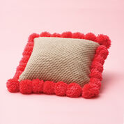 Bernat Pom-Pom-Edged Pillow