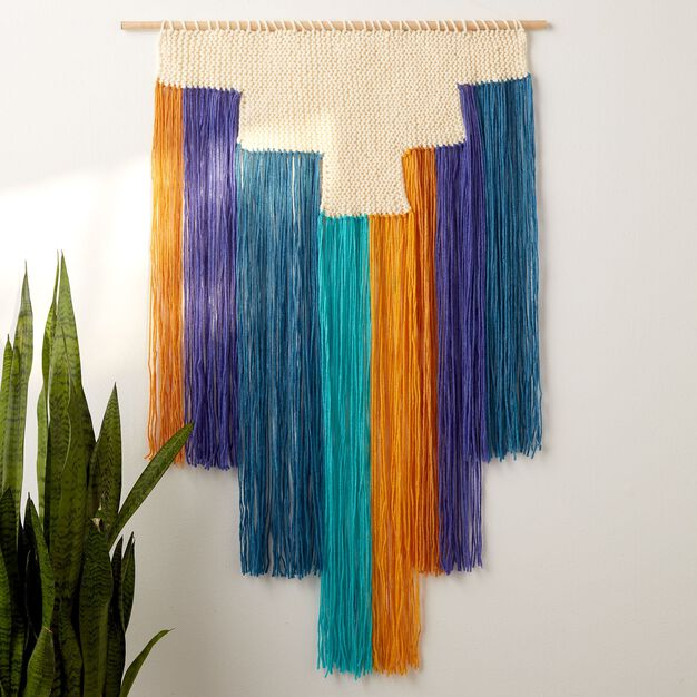 Bernat Cascading Knit Wall Hanging in color