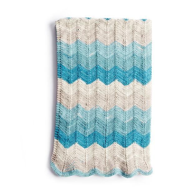 Caron Catch Some Waves Knit Blanket Pattern Yarnspirations