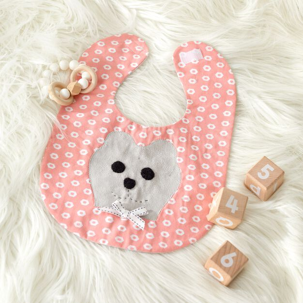 Dual Duty Grin and Bear It Baby Bib in color