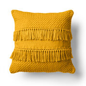 Caron Texture and Fringe Knit Pillow