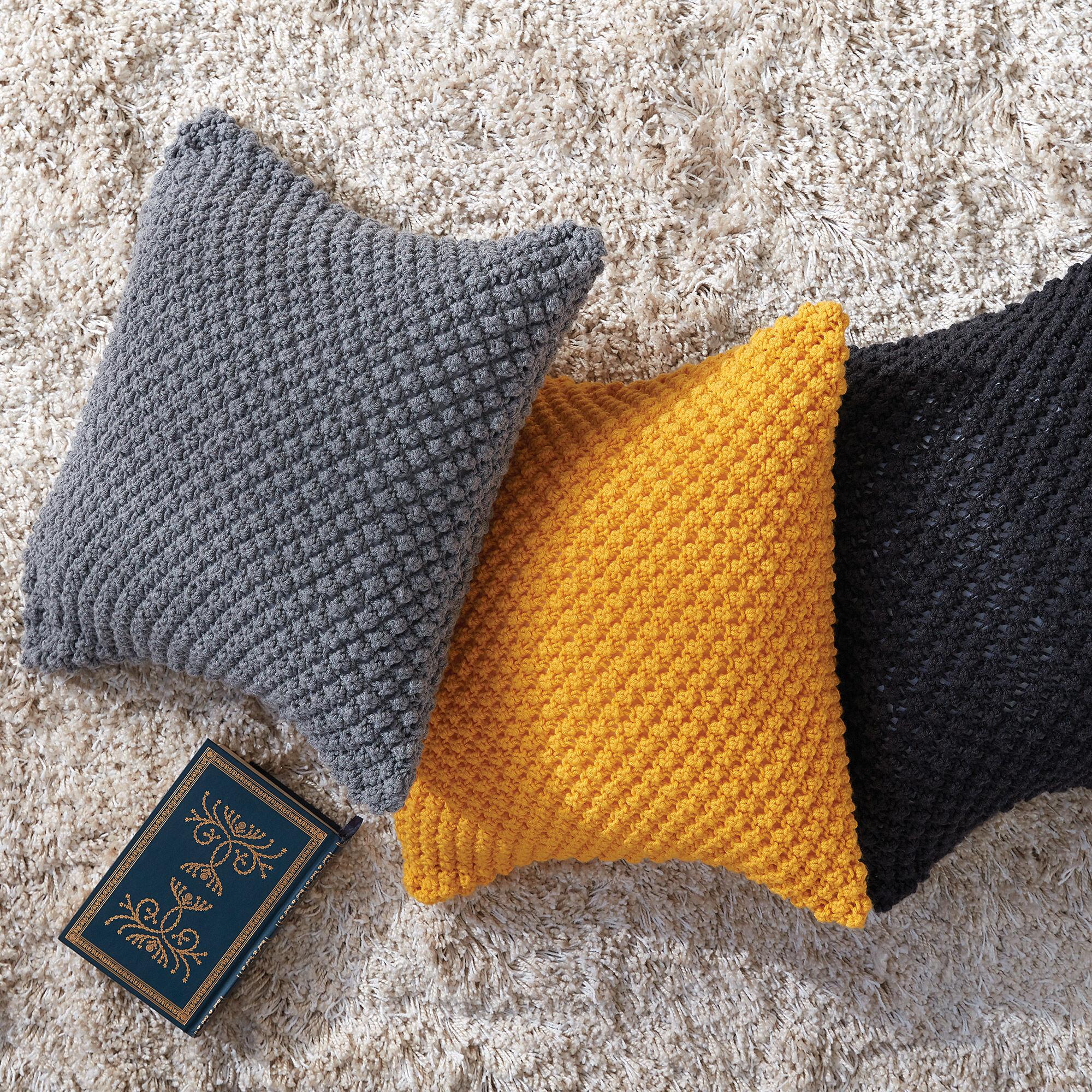 Caron Pebble Pop Knit Pillows, Sunflower | Yarnspirations