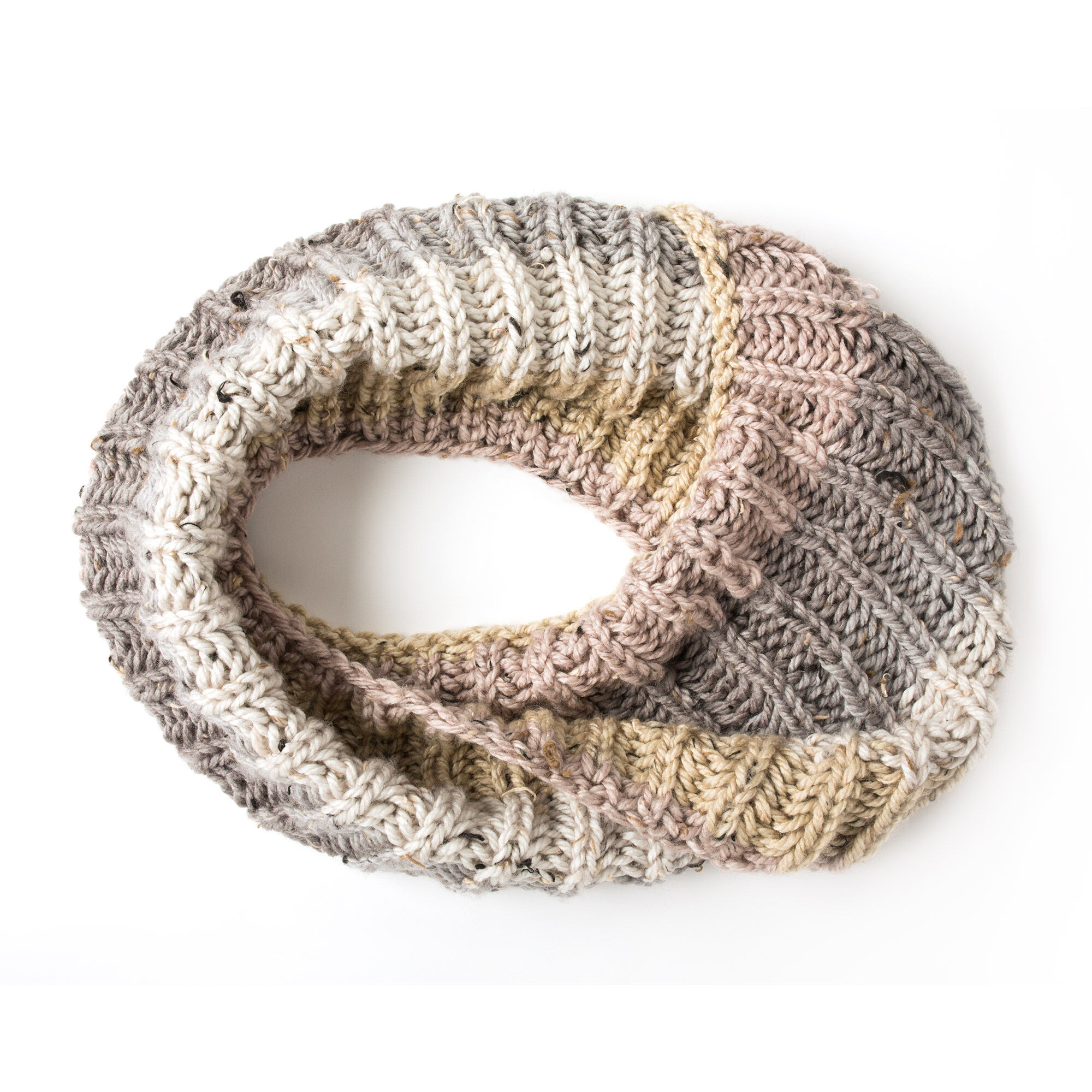 Caron Big Rib Knit Cowl Pattern   Yarnspirations