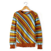 Patons Diagonal Stripes Sweater, XS/S