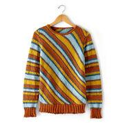 Patons Diagonal Stripes Sweater, XS/S