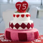 Red Heart Trendy Fondant Cake