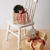 Go to Product: Bernat Fur Pompom Gift Topper, Grey in color
