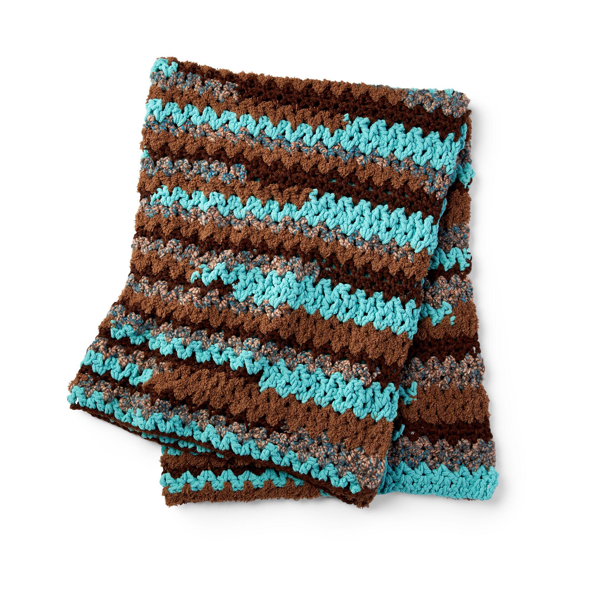 Bernat Easy Vee Sy Crochet Throw Pattern Yarnspirations