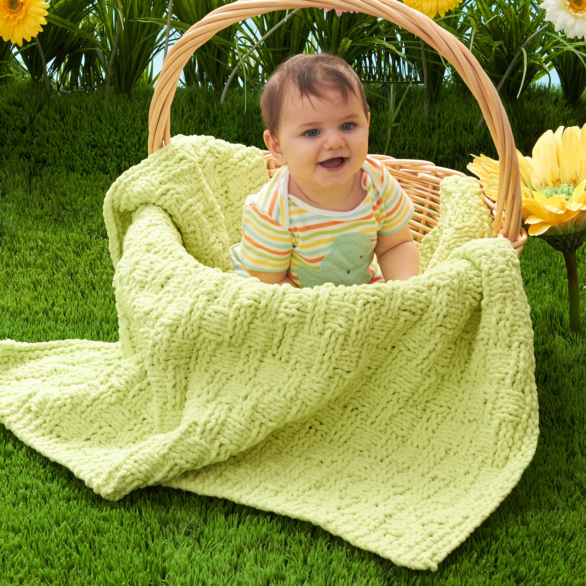 Bernat Basketweave Baby Blanket Yarnspirations
