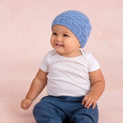 Red Heart Basketweave Hat, 6/9 mos
