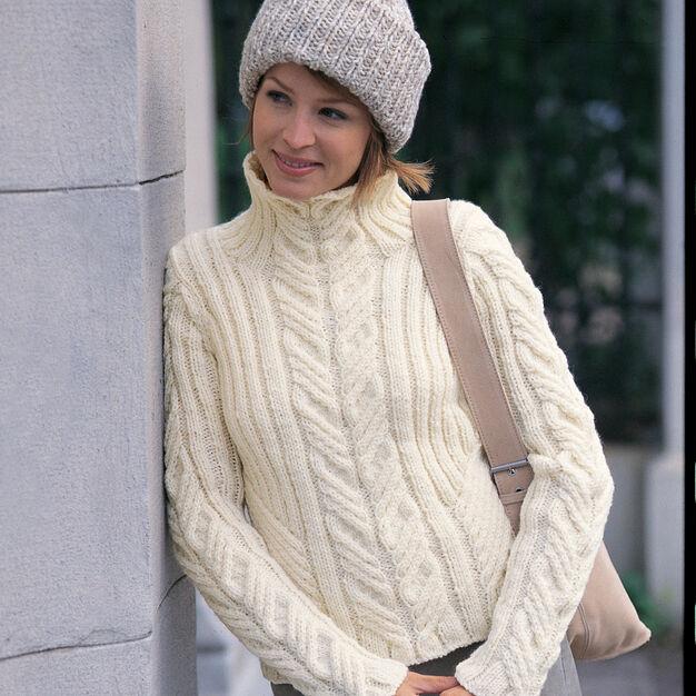 Patons Urban Aran Pullover w Toque, S